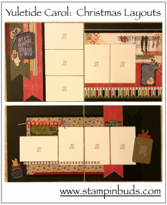 CTMH Yuletide Carol Layouts with Stampin' Buds