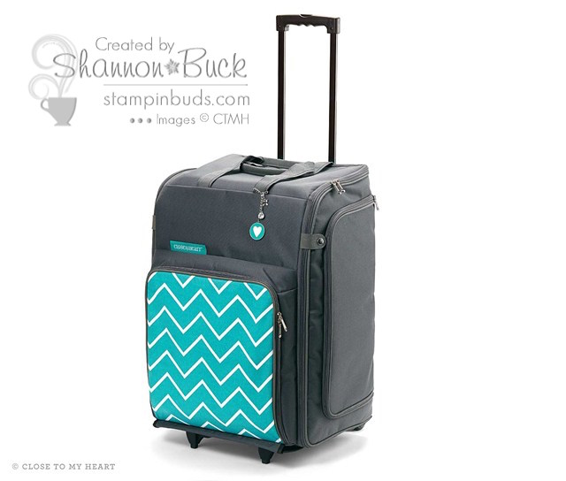 CTMH Chevron Rolling Tote closed
