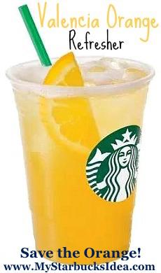 Valencia Orange Refreshers Starbucks