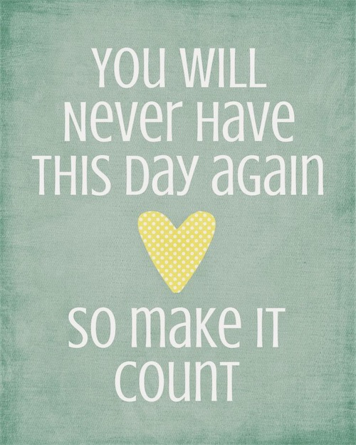 Make it Count Quote