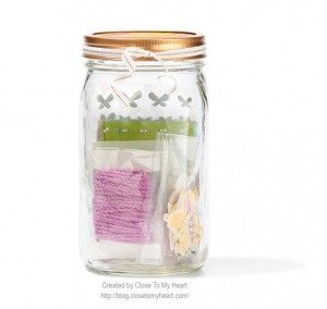 CTMH Banner in a Jar