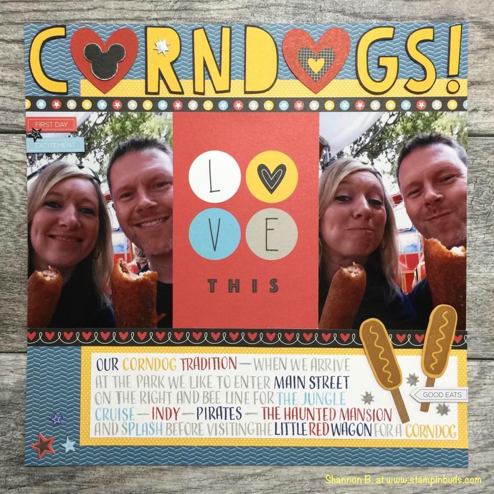 Scrapbooking Disneyland Corn Dogs