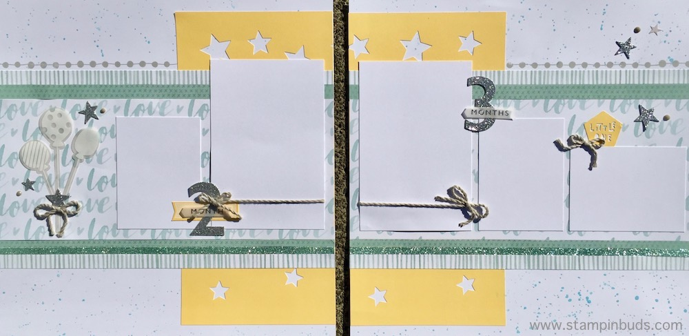 Whimsy Handmade Baby Boy Album Pages 2 and 3