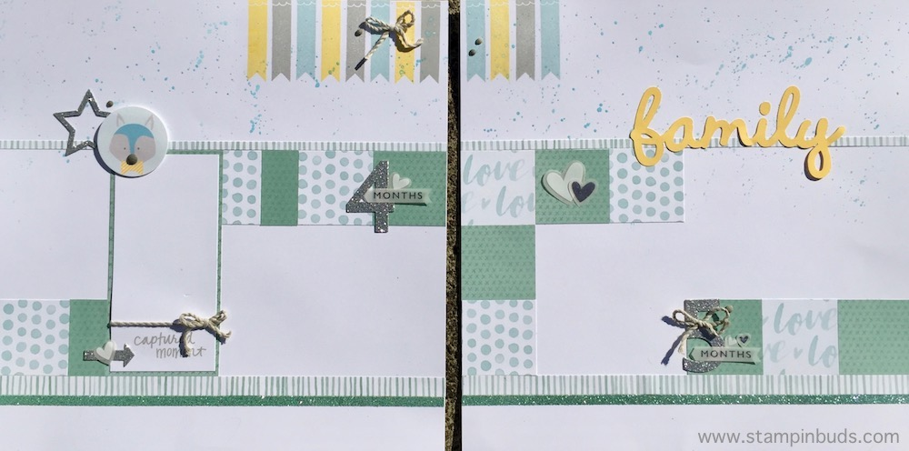Whimsy Handmade Baby Boy Album Pages 4 and 5