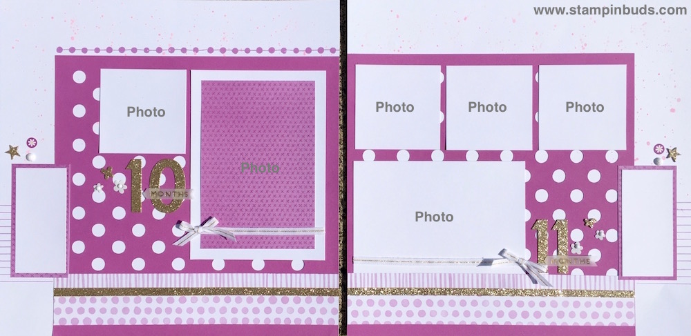 Whimsy Handmade Baby Girl Album Pages 10 & 11