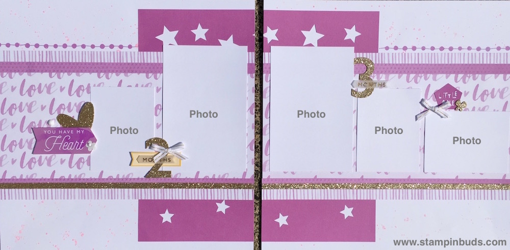 Whimsy Handmade Baby Girl Album Pages 2 & 3