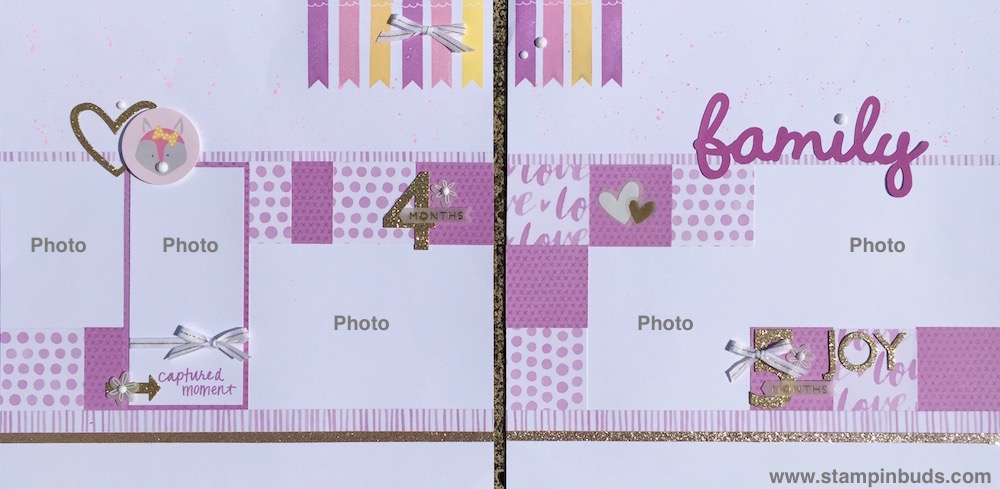Whimsy Handmade Baby Girl Album Pages 4 & 5