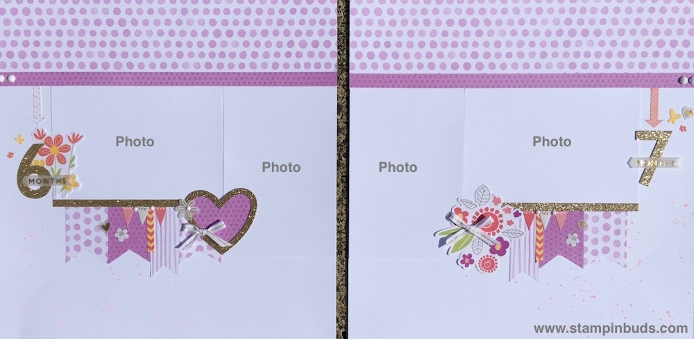 Whimsy Handmade Baby Girl Album Pages 6 & 7