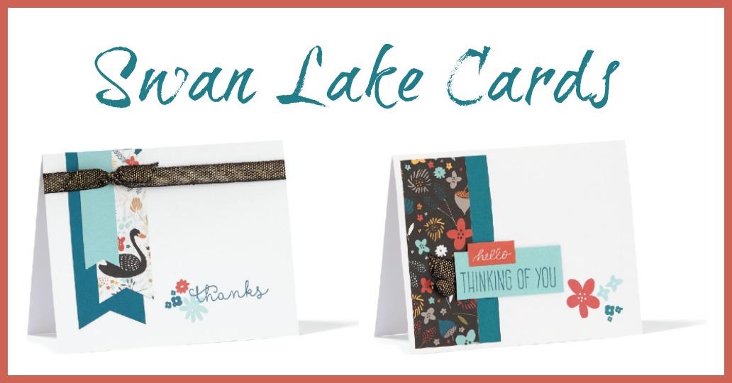 Swan Lake Sentiment Cards Template